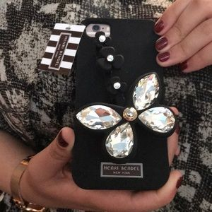 New Henri Bendel Black Silicone iPhone Case